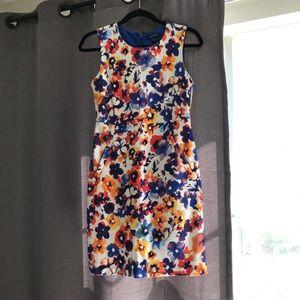 Lands end floral dress size 4 petite